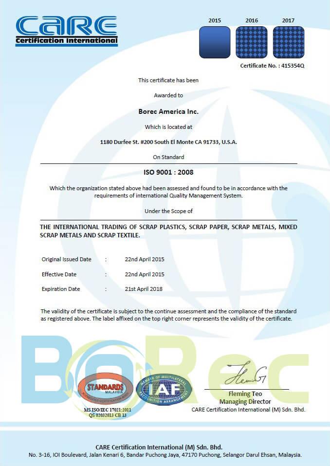 Certificates Bo Rec